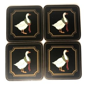 Vintage Pimpernel Holiday Geese England Coasters